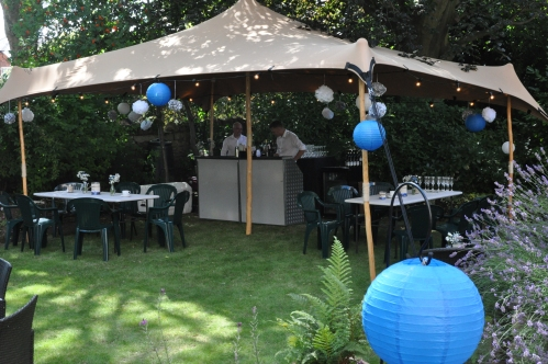 Garden party event planning and set up