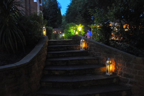 Garden Party lighting - event planning and lighting