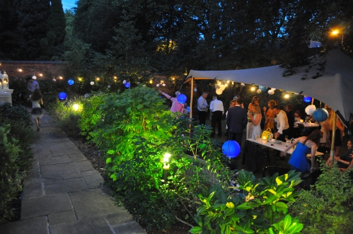 Garden Party - lighting and party planning